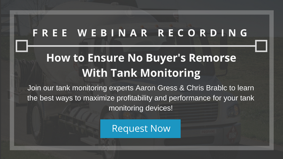 Tank Monitoring Webinar Recording Request